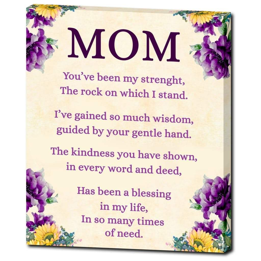 Definition of Mom Wall Art Birthday wishes for mom, Mom