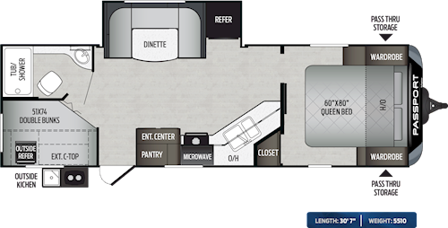 Passport Travel Trailers West Coast Floorplans Keystone Rv Visit Our Website To View Current Floorplans Floor Plans Travel Trailer Passport Travel