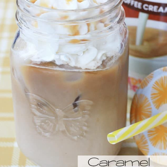 Caramel Iced Latte With Dunkin Donuts Creamer In