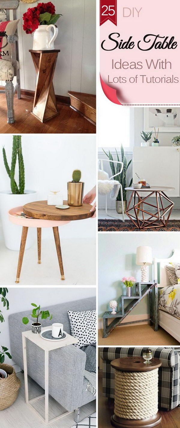 Diy Side Table Ideas With Lots Of Tutorials With Images Diy