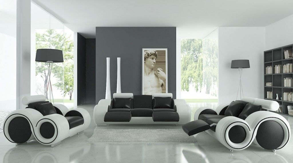 black and white living room furniture: advantages of applying