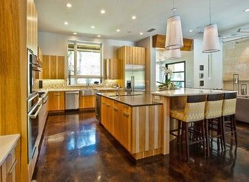 Stained Concrete Design Ideas Pictures Remodel And Decor  Page Awesome Kitchen Floor Designs Inspiration Design