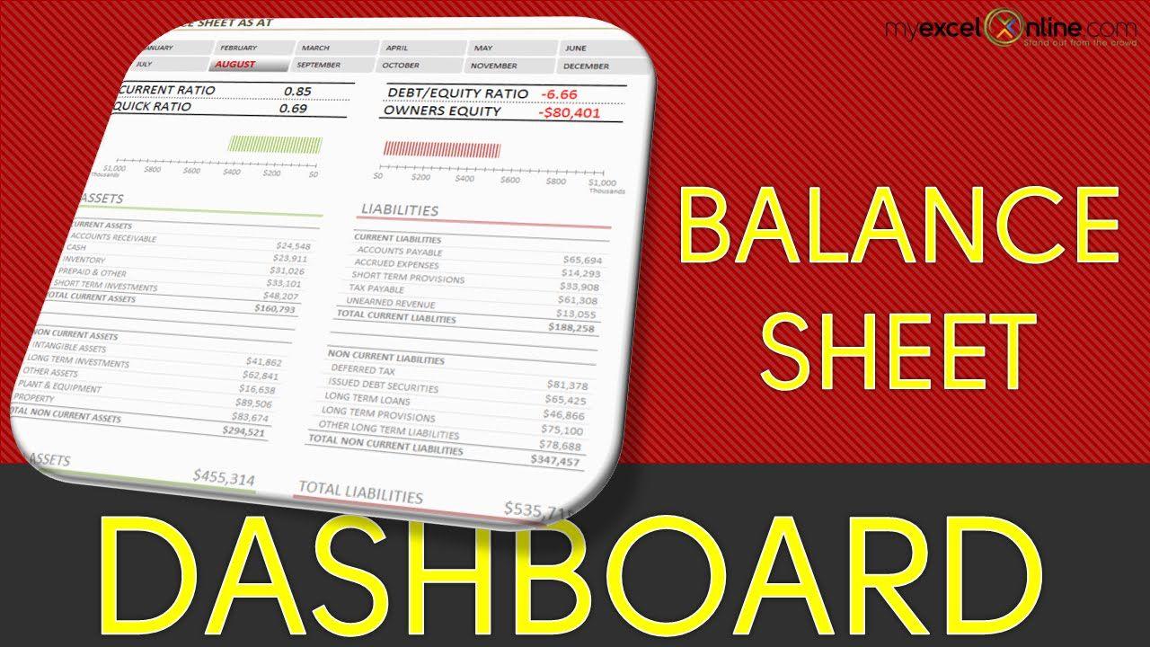 Excel    Pivot Table Tutorial  Balance Sheet Dashboard