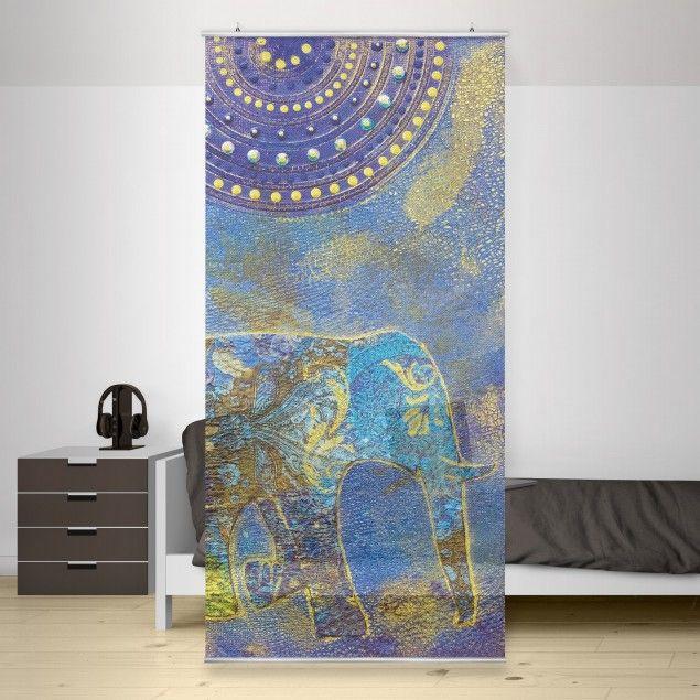 Raumteiler Elephant In Marrakech 250x120cm Wohnstile