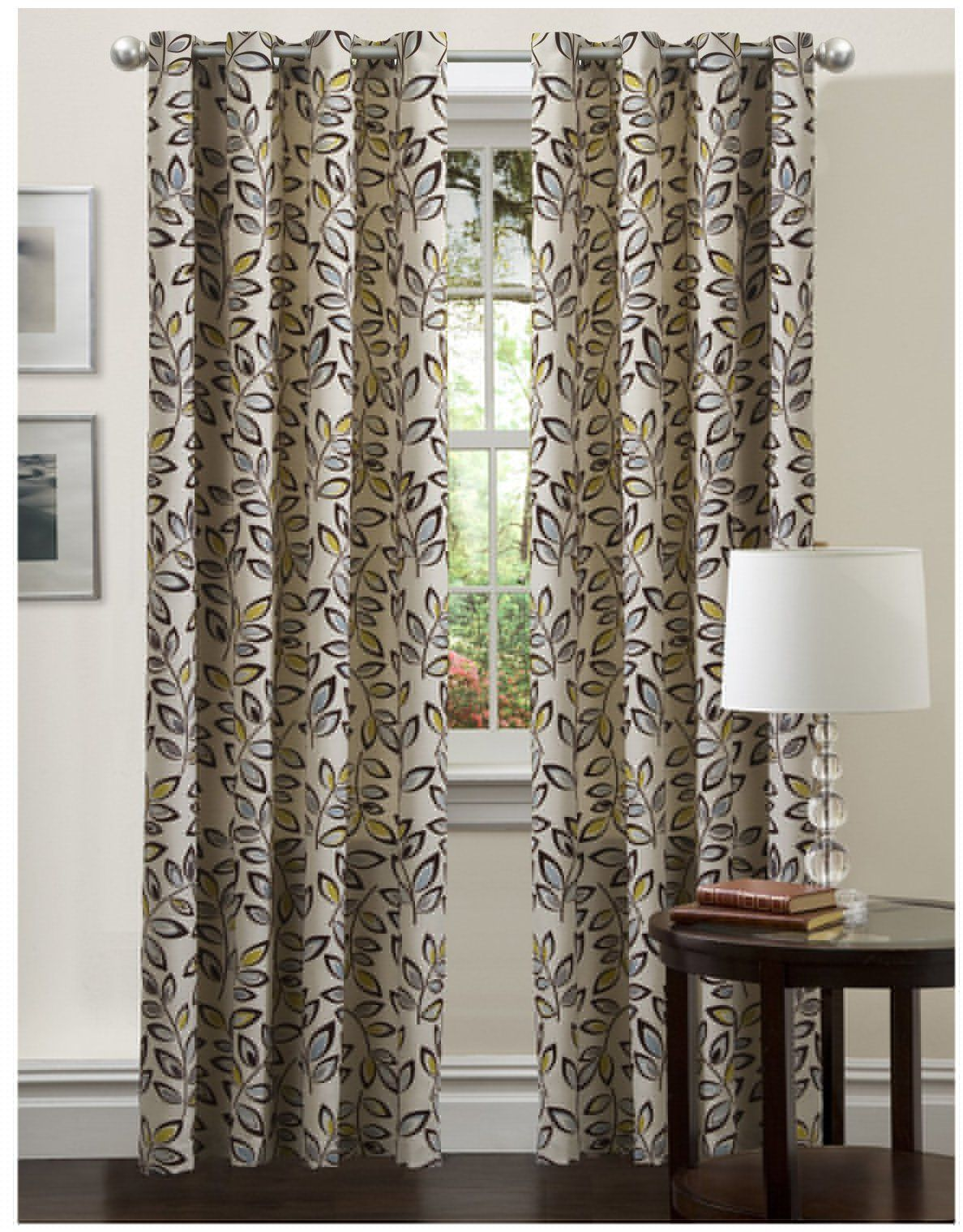 Lush Decor Ventura Panel in blue curtain
