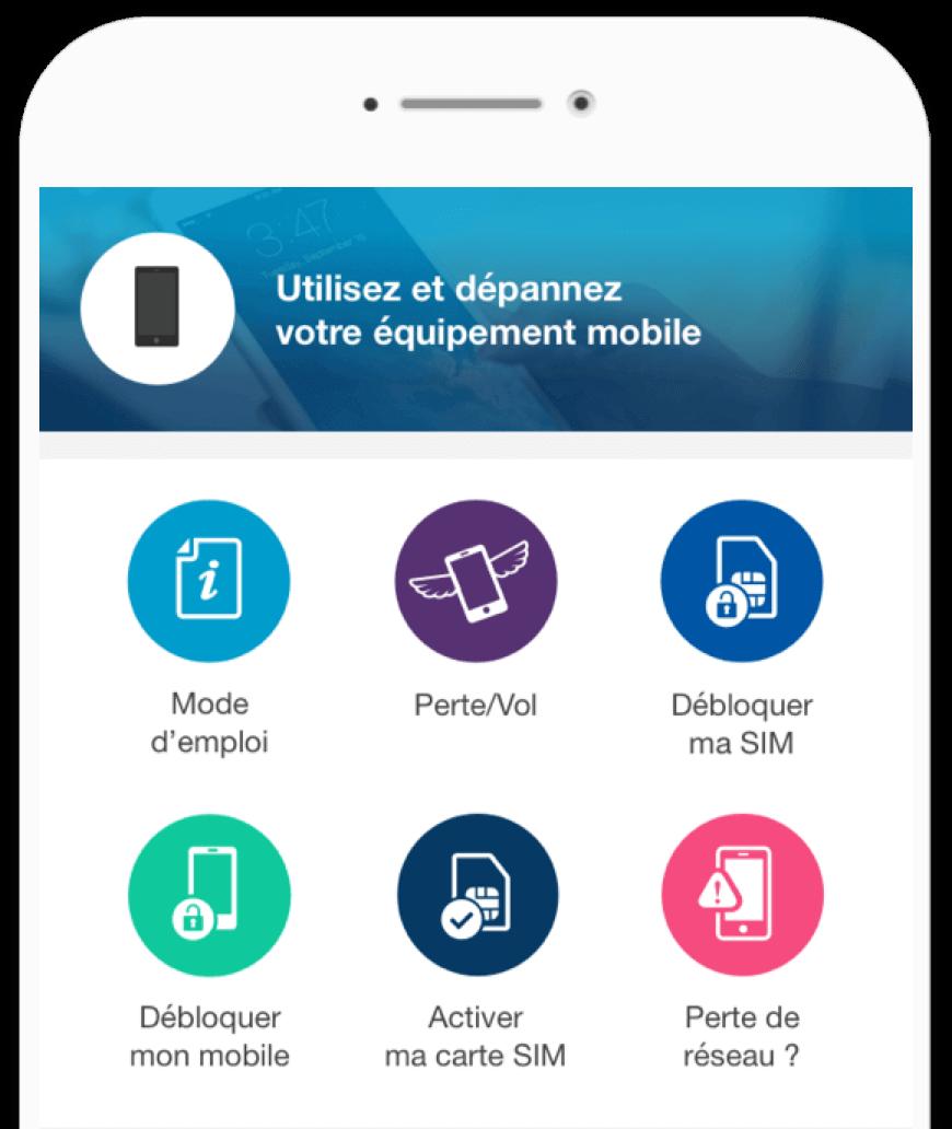 Téléchargez l'application mobile Espace client