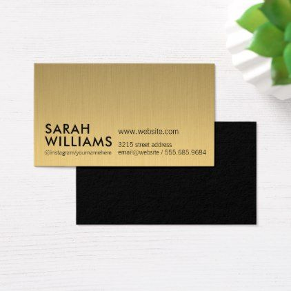 Simple professional gold metallic business card simple clear clean simple professional gold metallic business card simple clear clean design style unique diy reheart Gallery