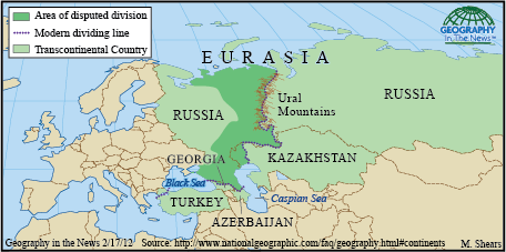 Geography In The News Eurasia S Boundaries Geography History Geography History For Kids