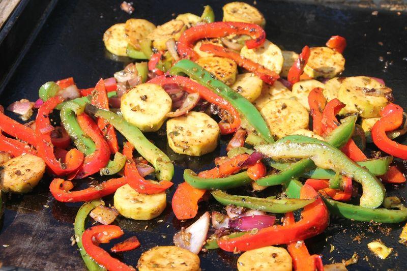 Légumes marinés à la plancha - La cuisine et les voyages