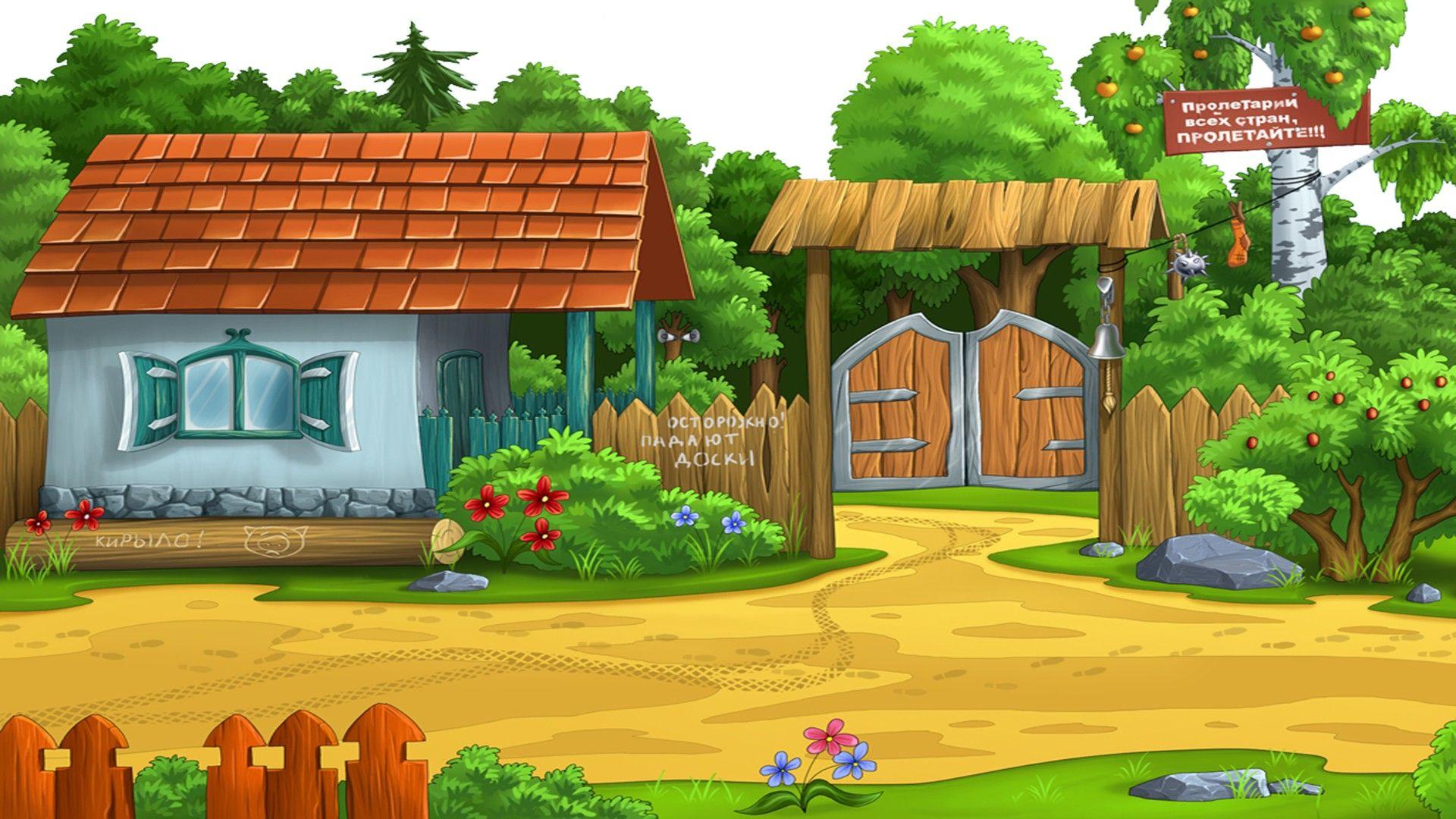 Картинка домика деревенского для детей