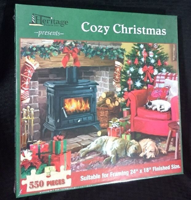 Cozy Christmas Jigsaw Puzzle, Sealed, 550 Pcs 24x18 inches, MADE IN