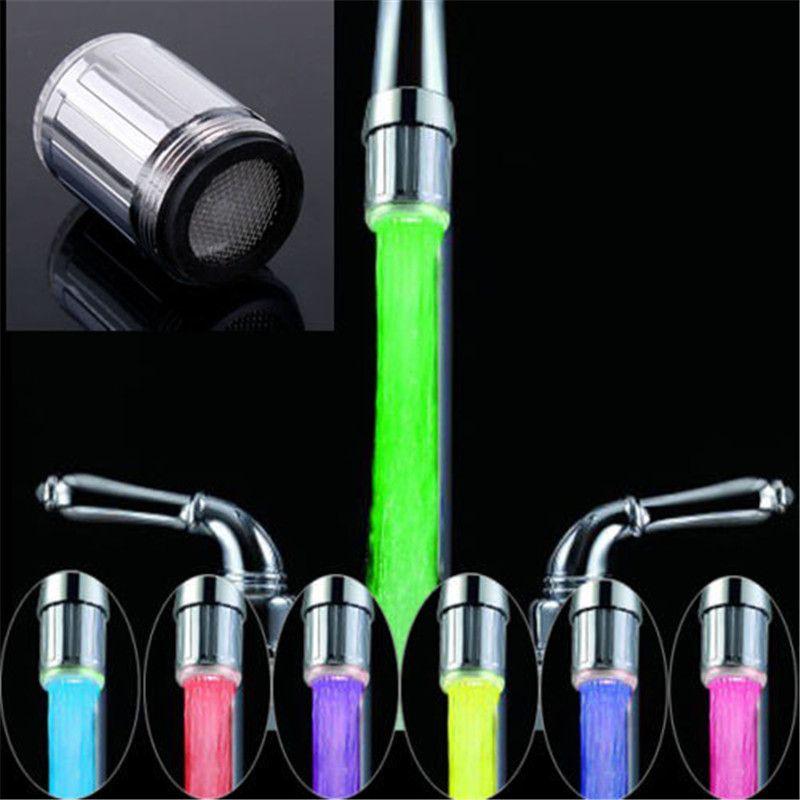 Led robinet de jet d 39 eau lumi re 7 couleurs changeantes - Lumiere de cuisine led ...