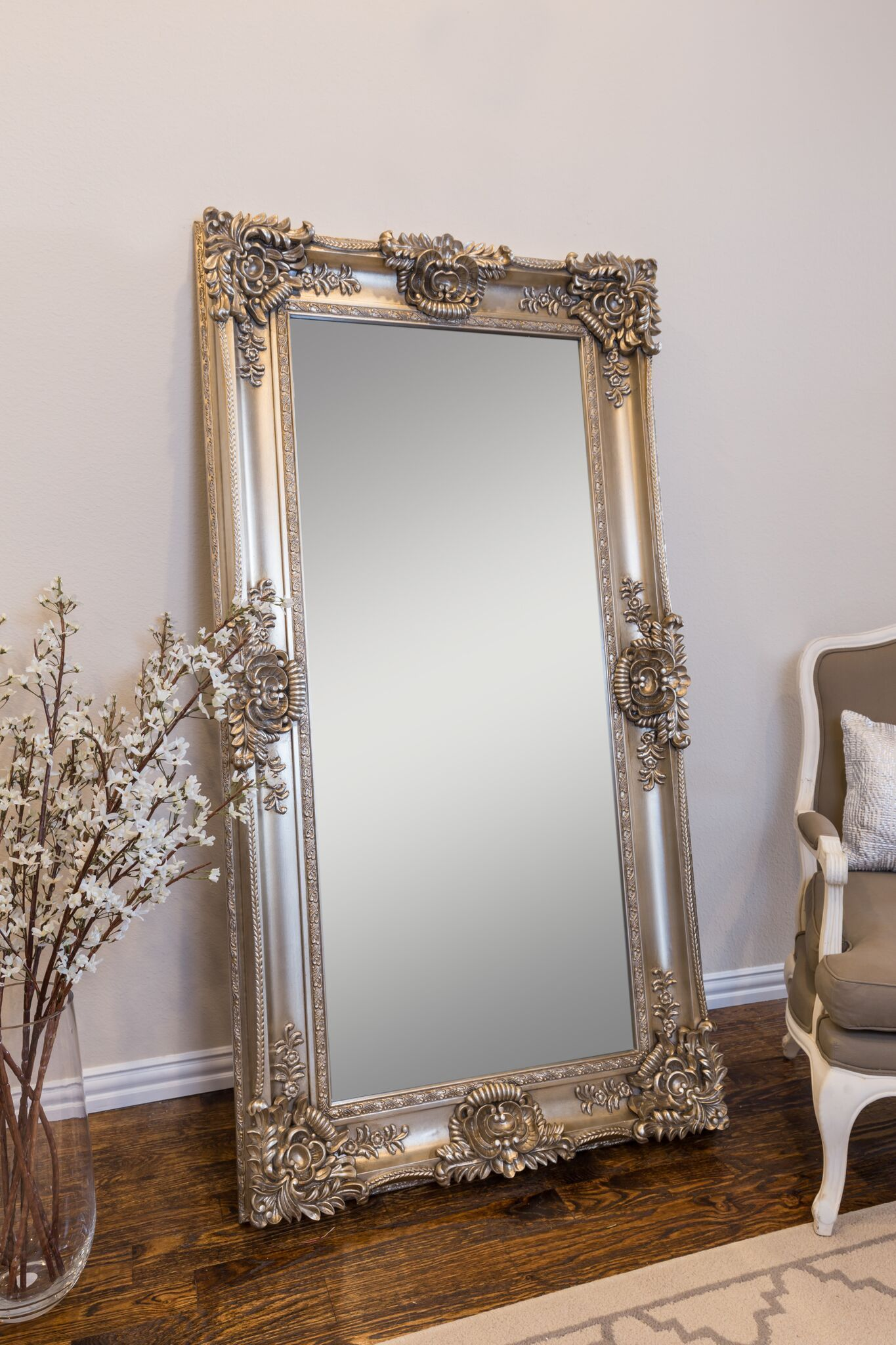 Mayfair Leaner Mirror, Champagne Gold