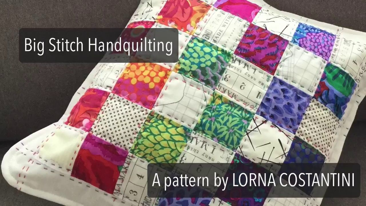 Big stitch hand quilting youtube hand quilting quilts