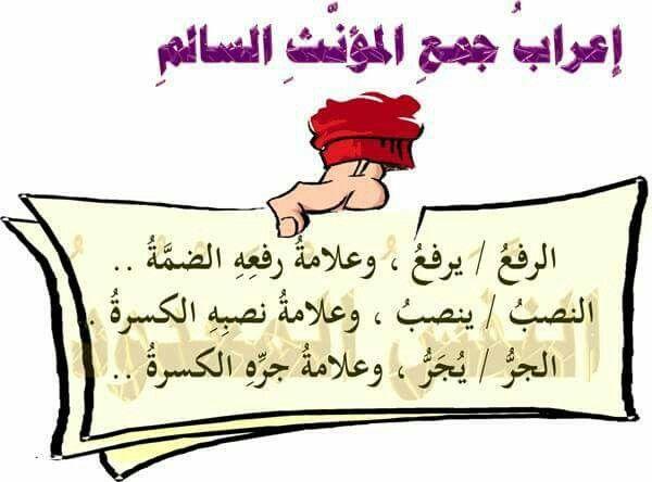 اعراب جمع المؤنث السالم Arabic Language Arabic Books Arabic Lessons