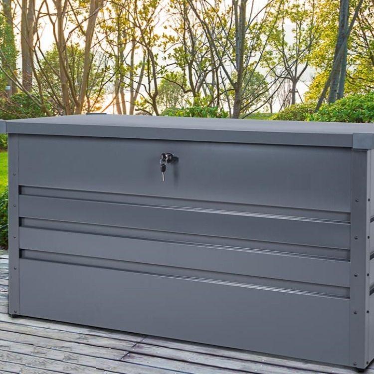Coffre Rangement Ta Le D Acier Anthracite Cieltere Commerce En 2020 Coffre De Rangement Caisse Rangement Coffre De Jardin