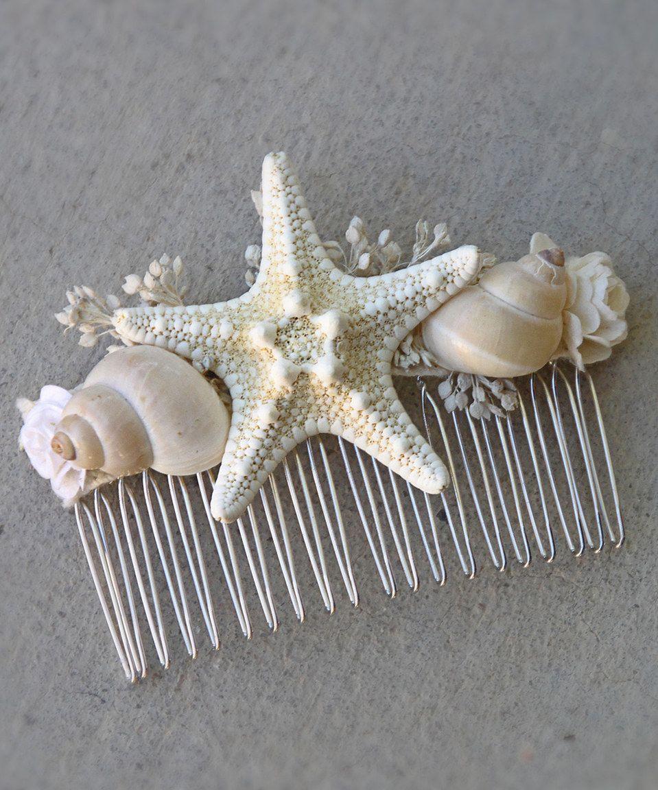 Look at this zulilyfind diy beachcomber hair comb kit by luxe beach wedding diy mermaid hair comb kit beachcomber do it yourself hair accessories starfish seashell bridal accessory wedding hair solutioingenieria Images