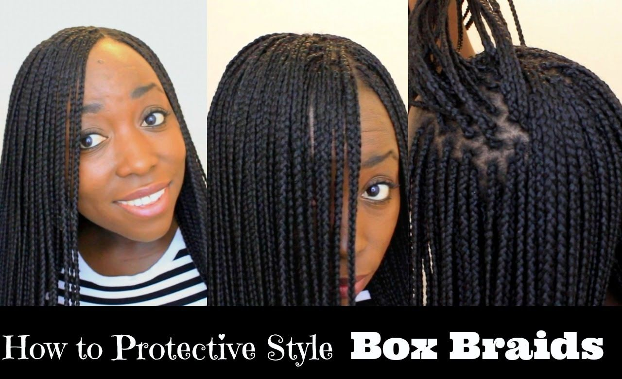 How To Box Braid Your Own Hair Feather Tips And Seal Box