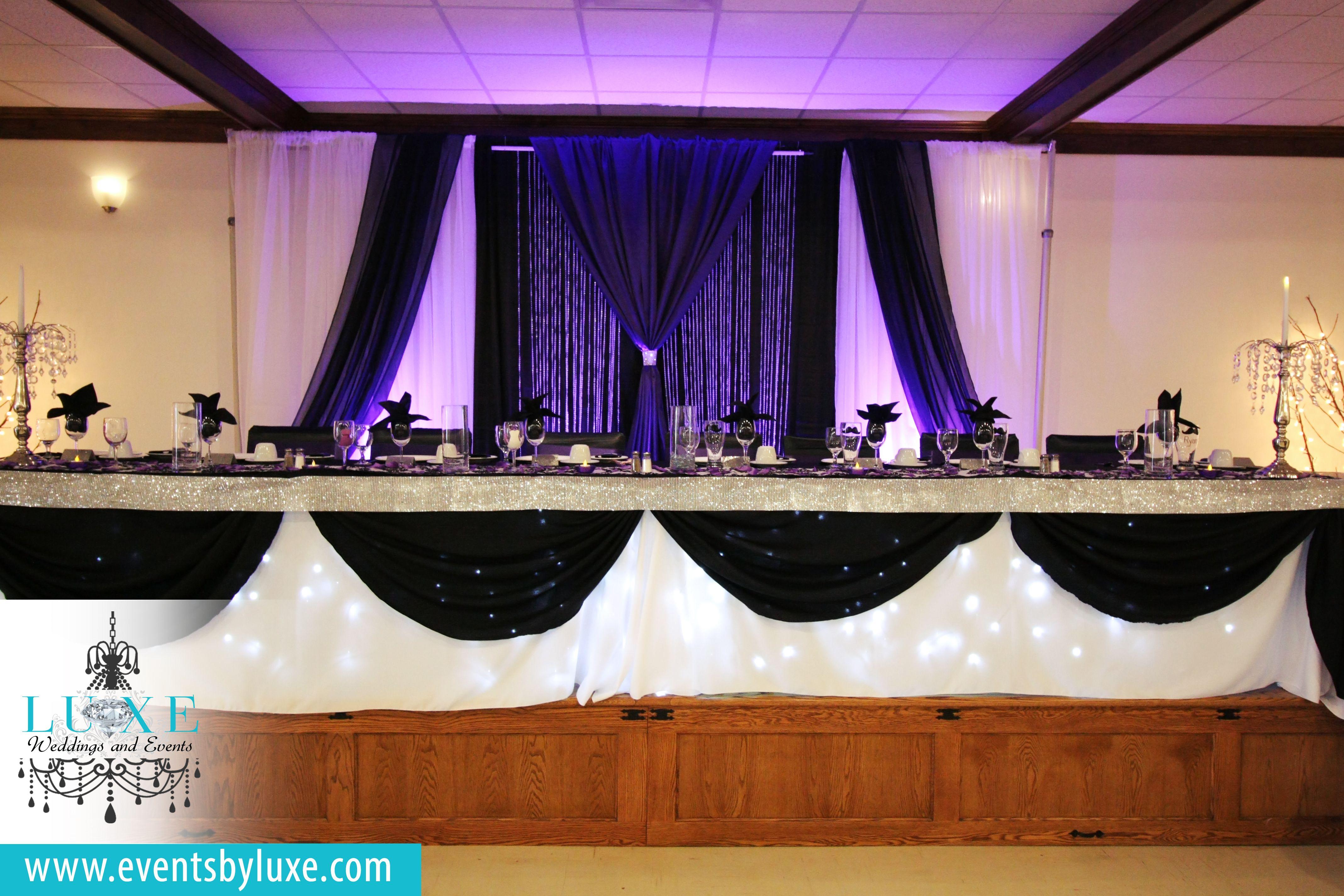 Black Purple And White Wedding Backdrop Modern Wedding Backdrop