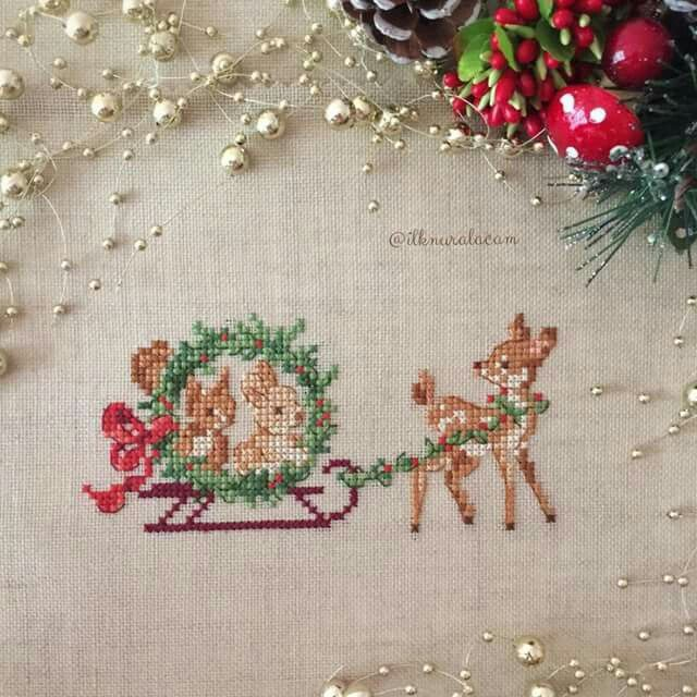 Xmas Sleigh Ride, beautifully stitched.