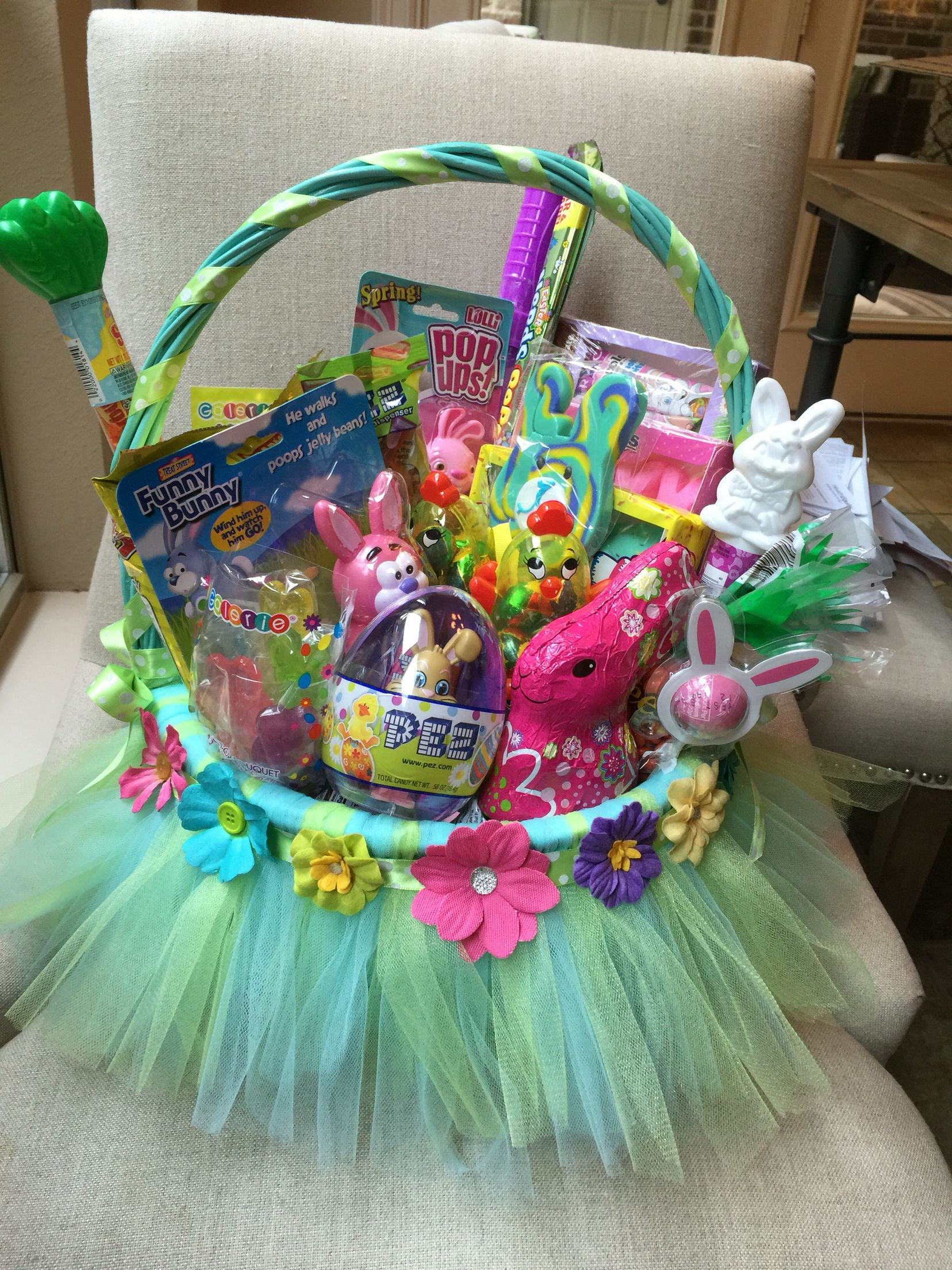 Easter basket tulle little girl easter pinterest easter easter basket tulle little girl negle Choice Image