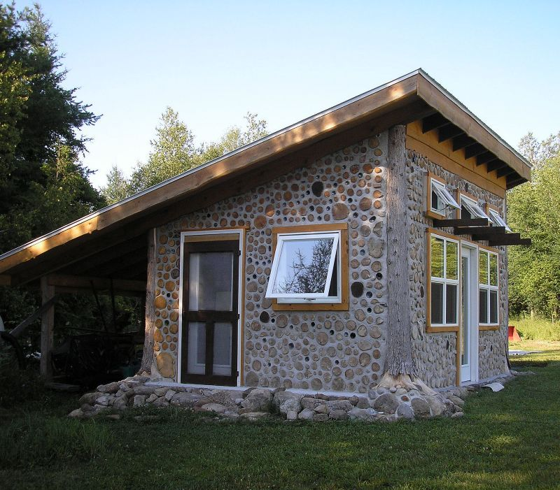 Cordwood at rainbow lake by tom huber tiny house ideas for Cordwood home designs