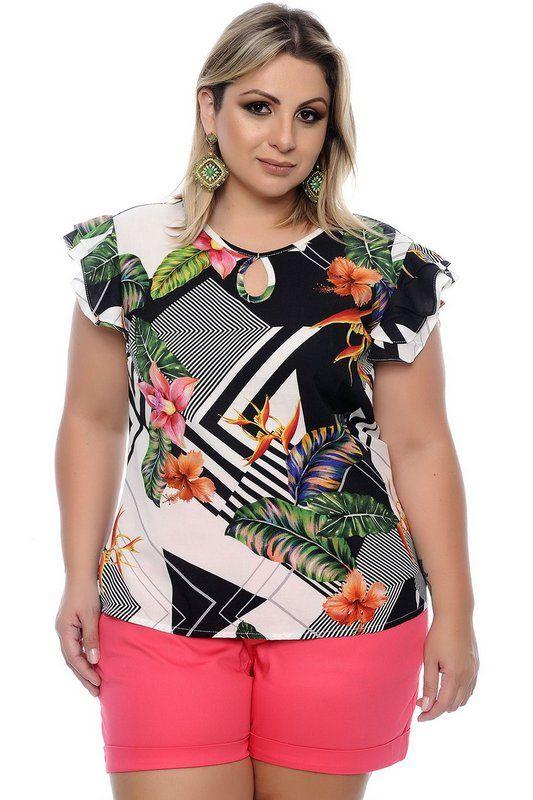 Blusa sem mangas coral | Moda para gordinhas, Roupas