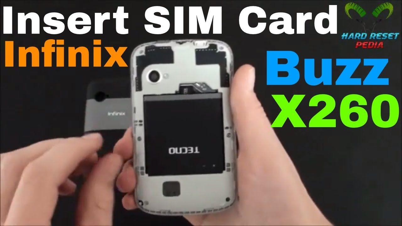 Infinix buzz insert the sim card x260 httpsyoutube