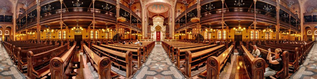 Built between 1854-1859 by the Neolog Jewish community of Pest according to the plans of Ludwig Förster, the monumental synagogue has a capacity of 2,964 seats (1,492 for men and 1,472 in the women's galleries) making it the largest in the Europe. The consecration of the synagogue took place on September 6, 1859.The original synagogue was bombed by the pro-Nazi Arrow Cross Party on 3 February, 1939[5]. Used as a base for German Radio and ...