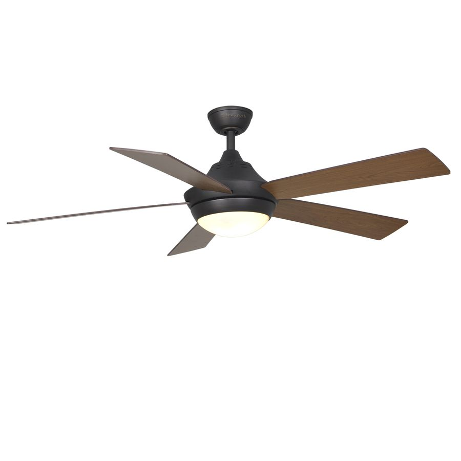 Harbor Breeze Platinum Portes 52 In Aged Bronze Downrod Mount Indoor Ceiling Fan With Light Kit And Remote Ceiling Fan With Light Fan Light Ceiling Fan