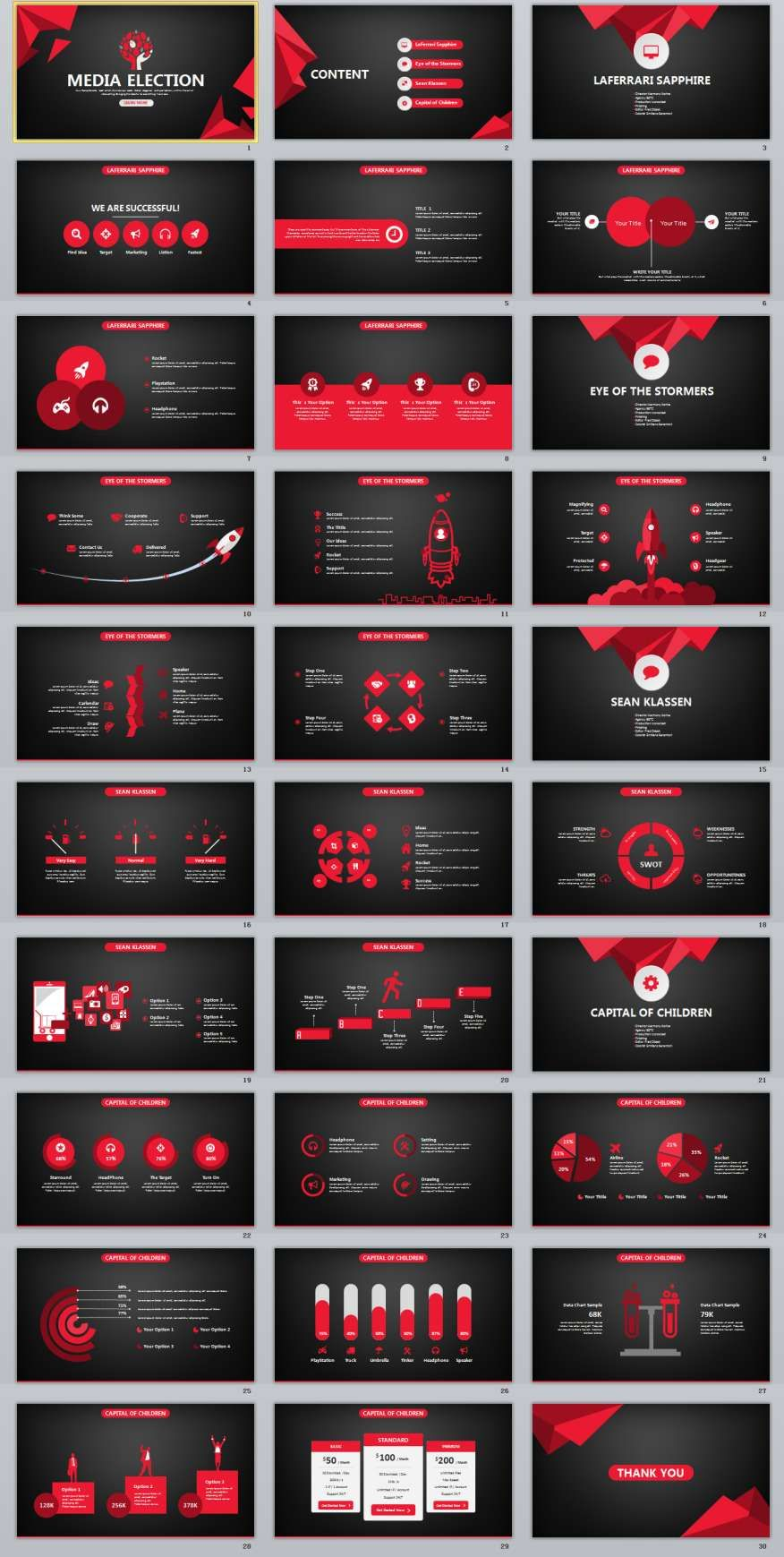 30 Red Black Business Design Powerpoint Templates Aios