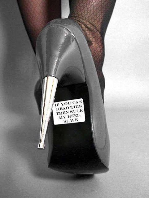 Femdom Pictures » suck my heels slave