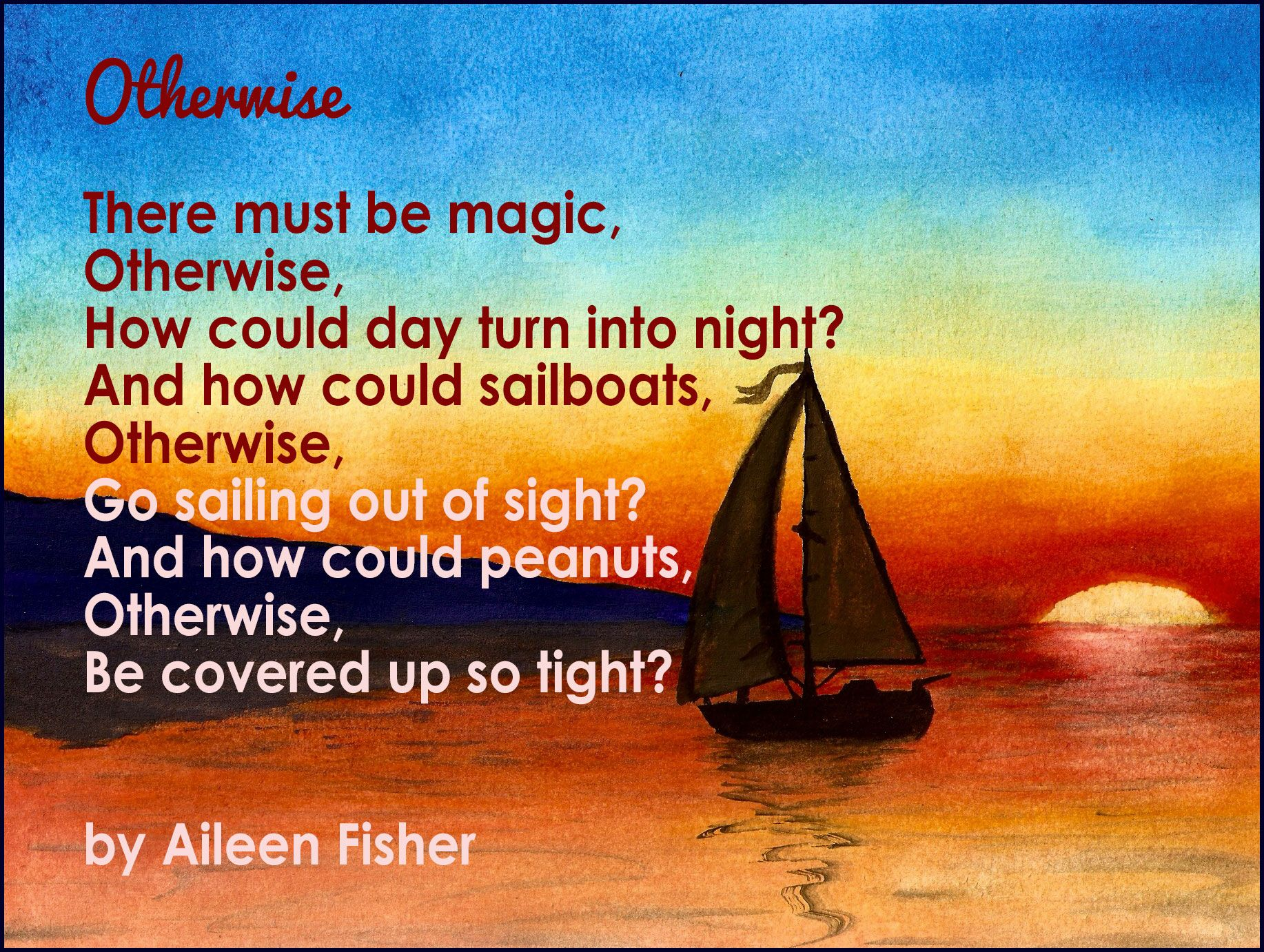 """""""Otherwise"""" by Aileen Fisher"""