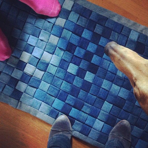 Done My Handmade Vintage Denim Rug The Instructions To