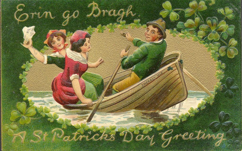 Irish americana st patricks day emerald isle erin go