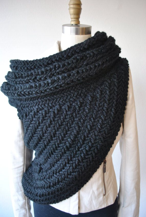 Katniss Cowl Hunger games Catching Fire Scarf in Black by KYSAA ...