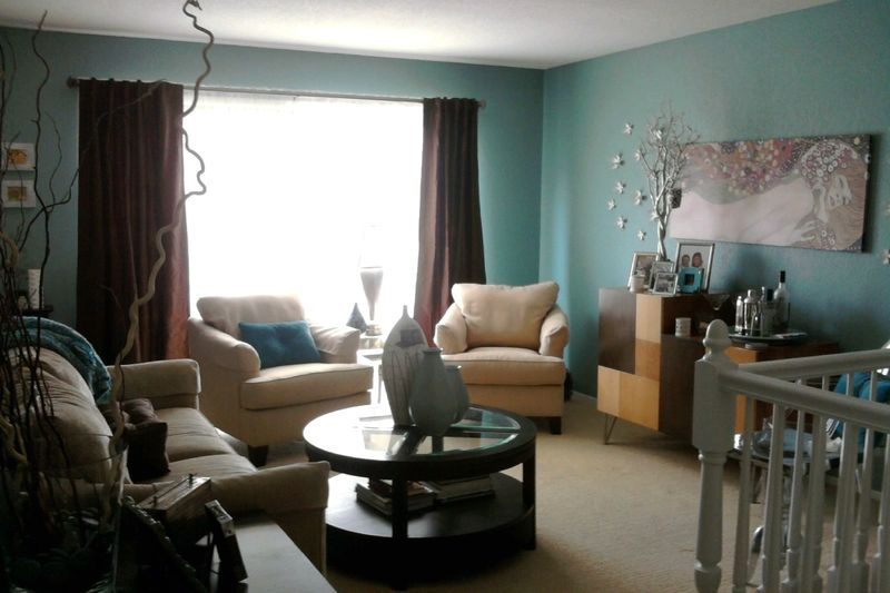 Drizzle painted room My living room features Sherwin Williams