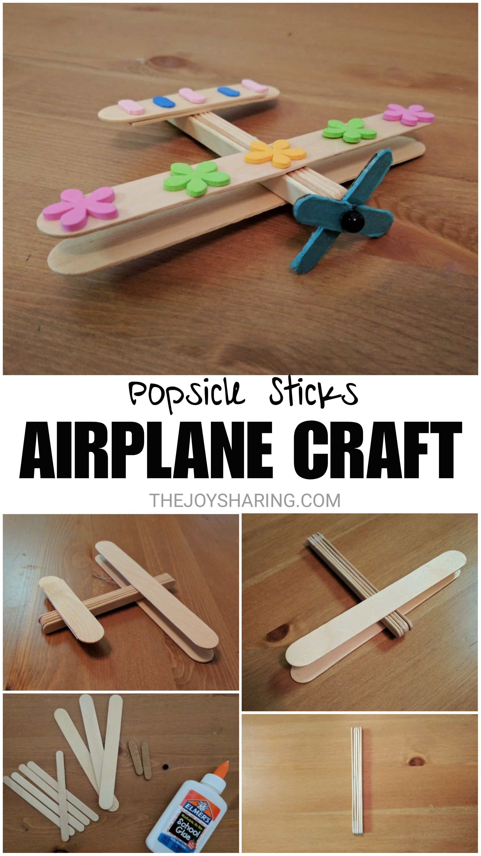 Easy airplane craft for preschool and kindergarten kids. Fun stem project to do at school. #thejoyofsharing #kidscrafts #craftsforkids #stem #steam #engineering #preschool #kindergarten #teachersfollowteachers #aeroplane #easydiy #easycrafts #montessori #firstgrade #homeschool #kidsactivities #preschoolteacher #kindergartenteacher