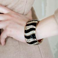 Black Gold Stripe Bracelet
