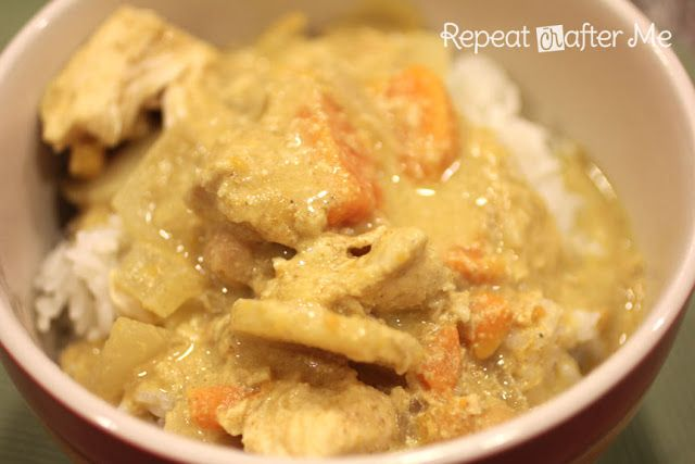 Repeat Crafter Me: Crock Pot Chicken Curry