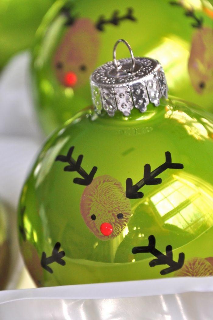 Adornos navide os esferas en verde con efecto reluciente - Adornos navidenos ninos ...