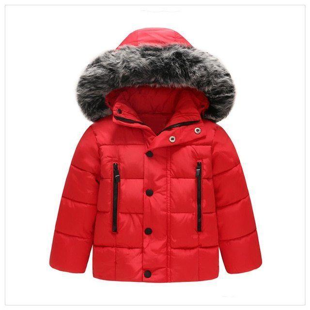d3d10b587bf8 New Autumn Winter Jacket Coat Kids Warm Thick Hooded Children ...