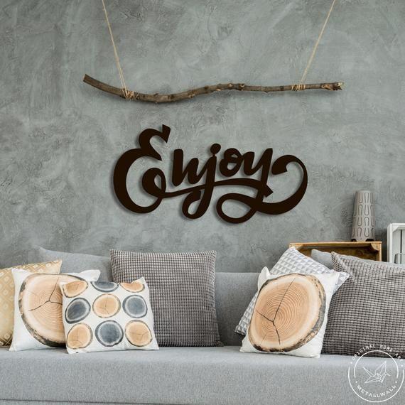 La Cucina Words Metal Wall Art Accents PolihednSteel
