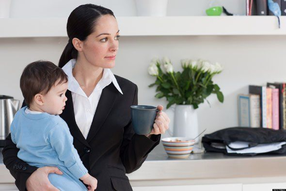 "A study shows that daughters whose mothers work end up more successful than women with stay-at-home mums, and sons who grew up with a mother who works grow up to be more ""useful"" around the house!"