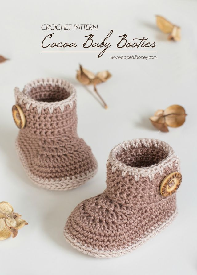 Cocoa Baby Ankle Booties - Free Crochet Pattern (Hopeful Honey ...