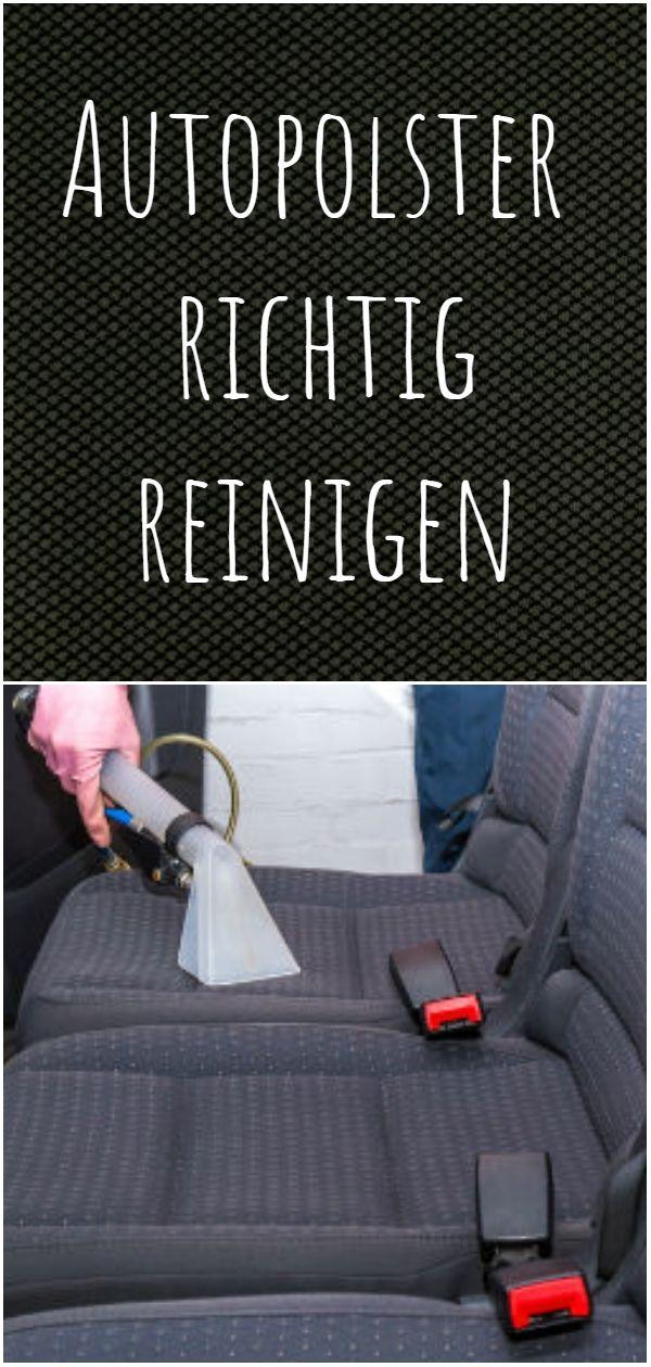 Autopolster richtig reinigen
