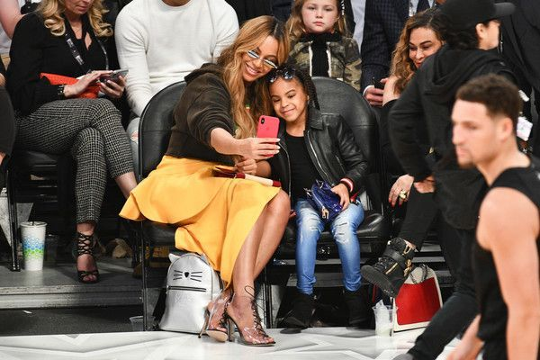 BEYONCE AND BLUE IVY CARTER ATTEND NBA ALLSTAR GAME 2018