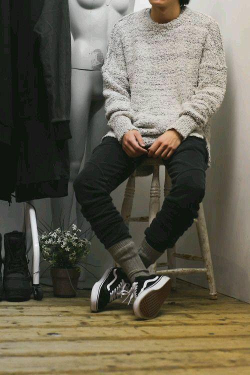 Men Outfit 2017 Vans Old Skool Streetwear Fashion