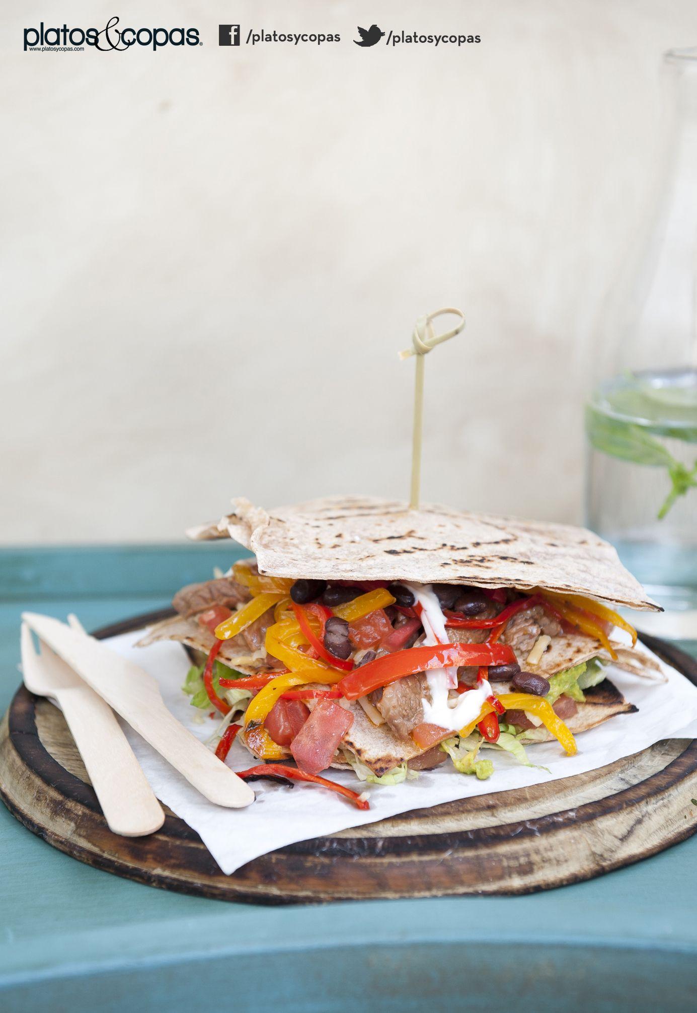 Revista Platos y Copas // Quesadillas de masa de trigo integral con sobrecostilla