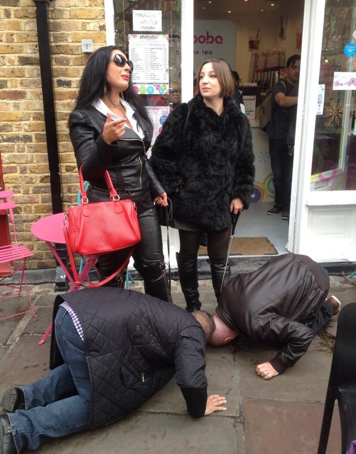Mistress evilyne very public foot slave full length - 5 2